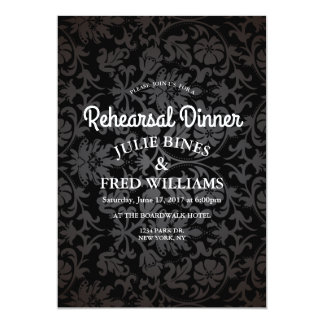 WeddingRehearsal Dinner Elegant Design Floral Card
