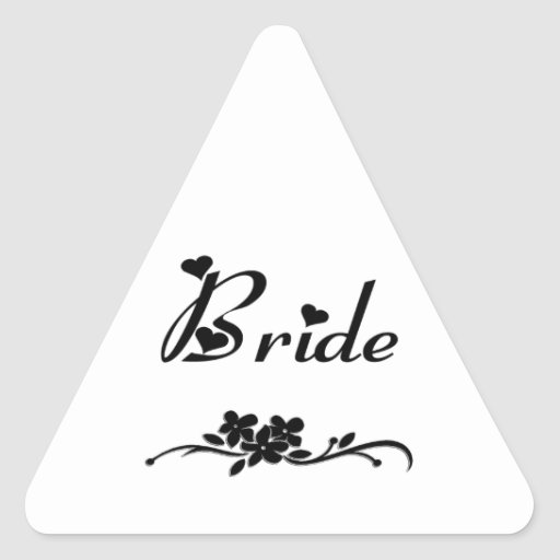 Weddings Classic Bride Triangle Sticker