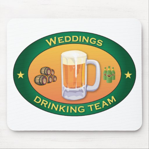 Weddings Drinking Team Mouse Mats