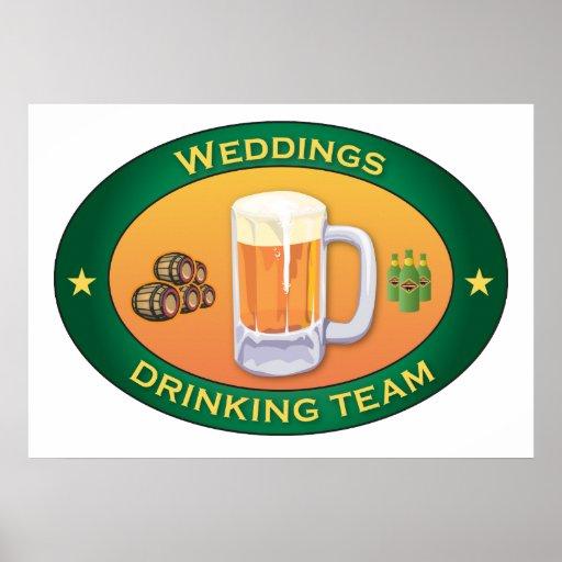 Weddings Drinking Team Poster
