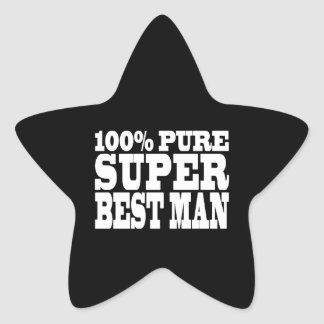 Weddings Favors Thanks : 100% Pure Super Best Man Stickers