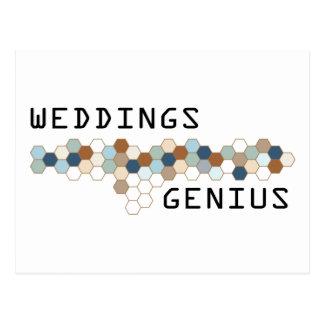 Weddings Genius Postcard