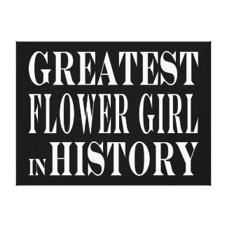Weddings Greatest Flower Girl in History Canvas Prints