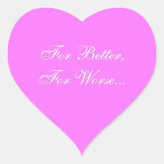 Weddings Invite Fuchsia Pink Heart Sticker