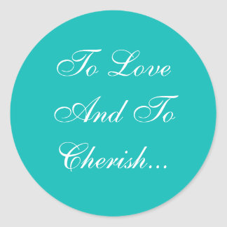 Weddings Invite Robin Egg Blue Classic Round Sticker