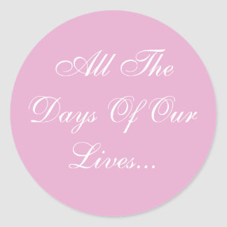 Weddings Invites Pink Pearl Classic Round Sticker