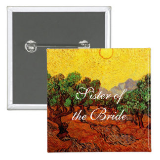 Weddings Vincent van Gogh Olive Trees Button