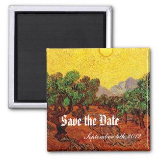 Weddings,Vincent van Gogh Olive Trees Square Magnet