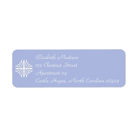 Wedgewood Blue 1 Return Address Labels