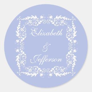 Wedgewood Blue 2 Wedding Envelope Seal / Sticker