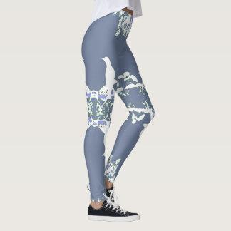 Wedgewood Fashion Leggings-Women-Blue/White Leggings