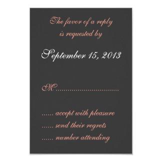Wedgewood Pink 3 Wedding RSVP Cards