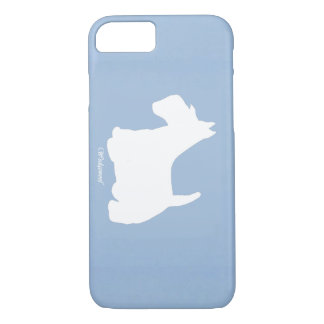 Wedgewoof Scottish Terrier Blue iPhone 8/7 Case