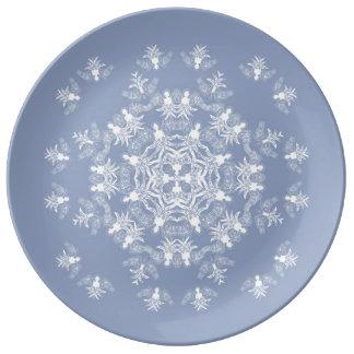 Wedgwewood Blue Angel Snowflake Decorative Plate Porcelain Plates