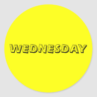 Wednesday Alphabet Soup Yellow Sticker by Janz