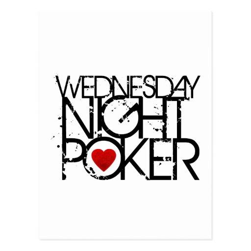 Wednesday Night Poker Post Cards