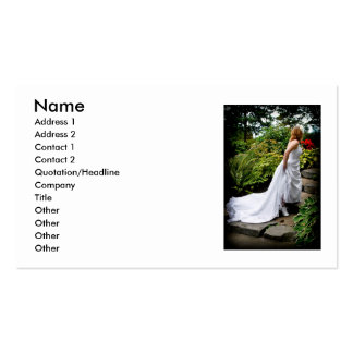 WedPoseStairsR091810, Name, Address 1, Address ... Pack Of Standard Business Cards