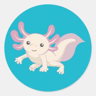 Wee Adorable Axolotl Round Sticker