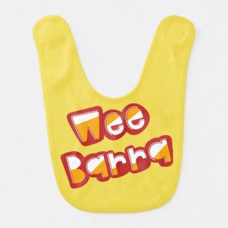 Wee Barra, Scottish Slang for Baby, Bib
