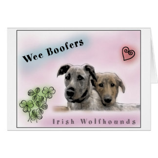 Wee Boofers - Irish Wolfhounds Greeting Card