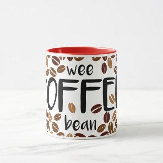 Wee Coffee Bean - Classic White Mug / Red Inside