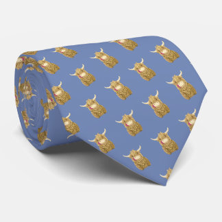 Wee Hamish Highland Cow (blue grey) Tie