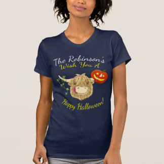 Wee Hamish Highland Cow Halloween T-Shirt