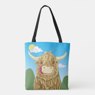 Wee Hamish In The Meadow Tote Bag