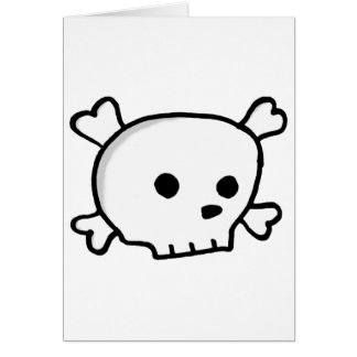 Wee pirate skull card