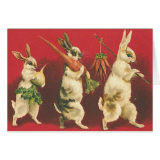 Wee Three Rabbits Greeting Card