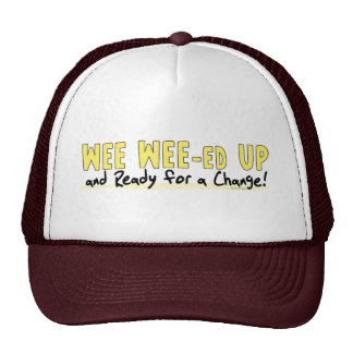 Wee Wee-ed Up Anti Obama Gear Trucker Hats