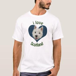 Wee Westie, I Love Scotland T-Shirt