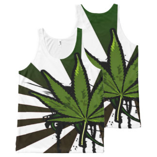 Weed All-Over Print Singlet