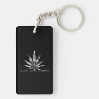 weed design key ring
