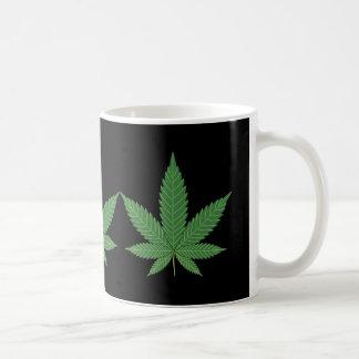 Weed Leaf Basic White Mug