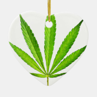 WEED LEAF CERAMIC HEART DECORATION
