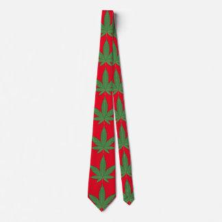 Weed Leaf Christmas Tie