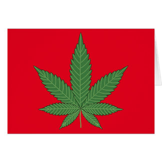 Weed Leaf Personalized Card