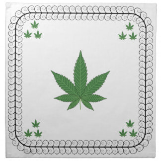 Weed Leaf Tree Swirl Trim Napkin
