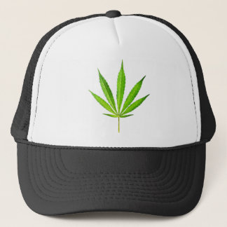 WEED LEAF TRUCKER HAT