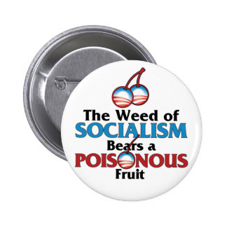 Weed of Socialistm 6 Cm Round Badge