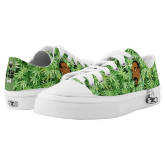 Weed Print Canvas Shoes