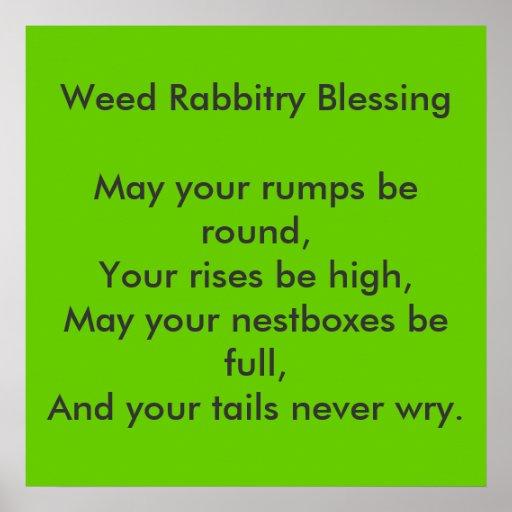 Weed Rabbitry Print