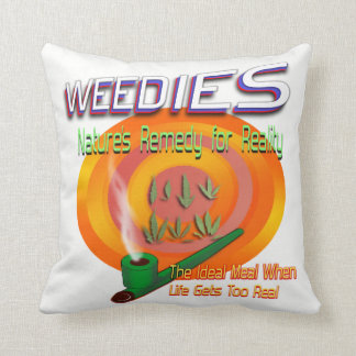 Weedies: Nature's Remedy for Reality Throw Pillow