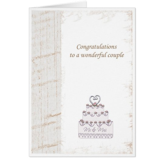 weeding congratulations card