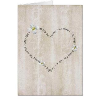 weeding day greeting card