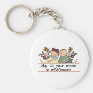 Weeds Be Wildflowers Basic Round Button Key Ring