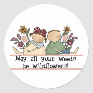 Weeds Be Wildflowers Tshirts and Gifts Sticker