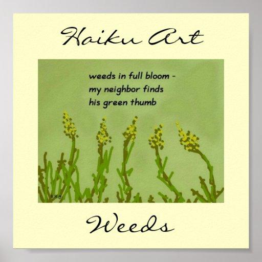 Weeds Haiku Art Print