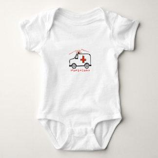Weee Wooo Wambulance Baby Bodysuit